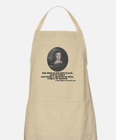 Milton Paradise Lost Heaven of Hell Quote Apron