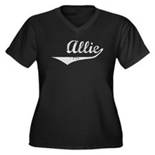 Allie Vintage (Silver) Women's Plus Size V-Neck Da