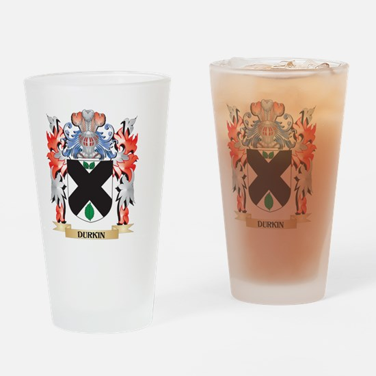 Durkin Coat of Arms - Family Crest Drinking Glass