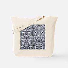 DMS2 BK-WH MARBLE (R) Tote Bag