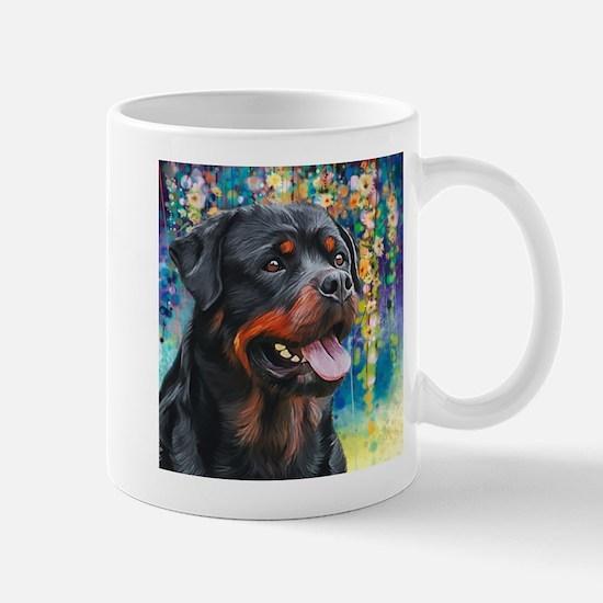 Rottweiler Painting Mug