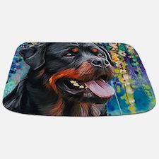 Rottweiler Painting Bathmat