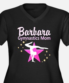 GYMNAST MOM Women's Plus Size V-Neck Dark T-Shirt