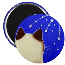 Siamese CAT and Fireworks Magnet
