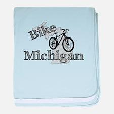 Bike Michigan baby blanket