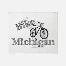 Bike Michigan Throw Blanket