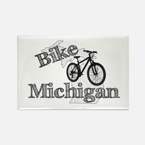 Bike Michigan Rectangle Magnet