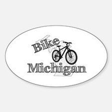 Bike Michigan Sticker (Oval)