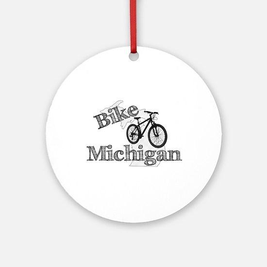 Bike Michigan Round Ornament