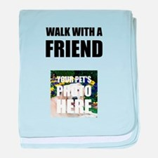 Walk With A Friend Pet Personalize It! baby blanke