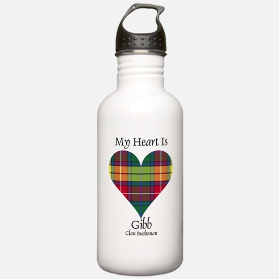 Heart-Gibb.Buchanan Sports Water Bottle