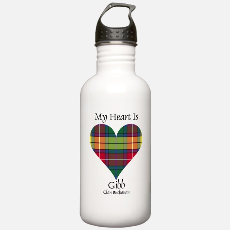 Heart-Gibb.Buchanan Sports Water Bottle