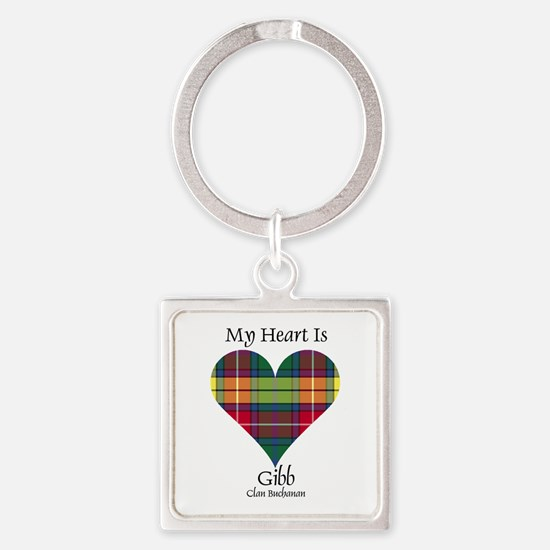 Heart-Gibb.Buchanan Square Keychain
