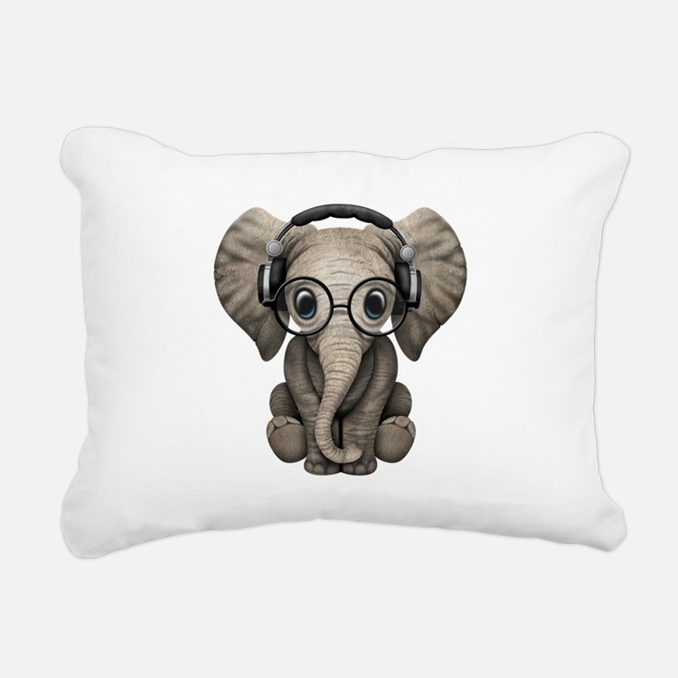 Cute Elephant lover Rectangular Canvas Pillow