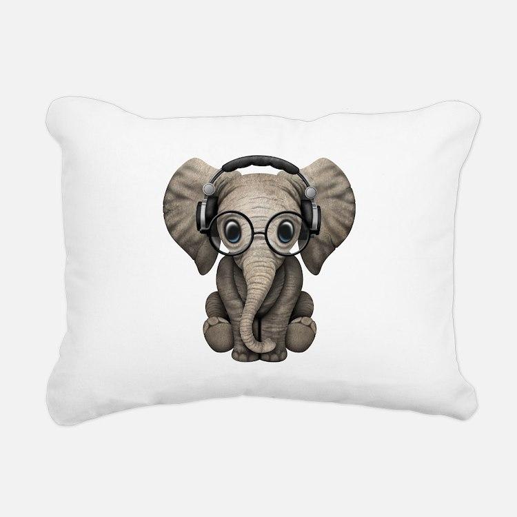 Cute Elephant Rectangular Canvas Pillow