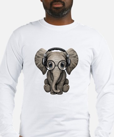Cute Elephant Long Sleeve T-Shirt
