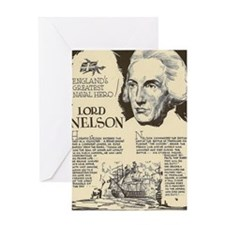 Lord Nelson Mini Biography Greeting Cards