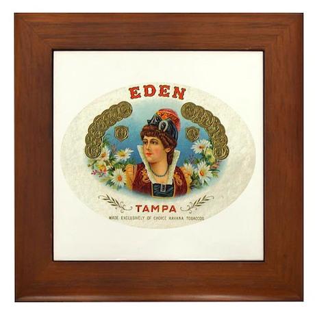 Eden Vintage Cigar Ad Tampa Framed Tile
