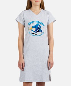 Unique Girls ice hockey Women's Nightshirt