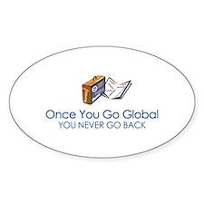 Global Girl Oval Decal