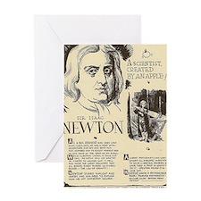Sir Isaac Newton Mini Biography Greeting Cards
