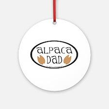 Alpaca Dad Oval Ornament (Round)
