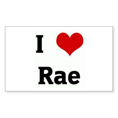 I Love Rae Rectangle Sticker