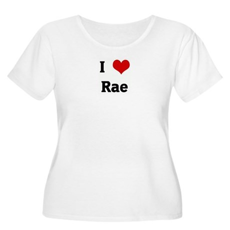 I Love Rae Women's Plus Size Scoop Neck T-Shirt