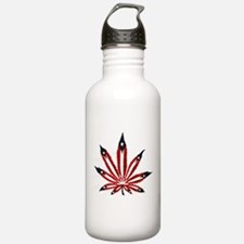 PR Weed Leaf Water Bottle