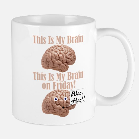 My Brain On Friday Mugs
