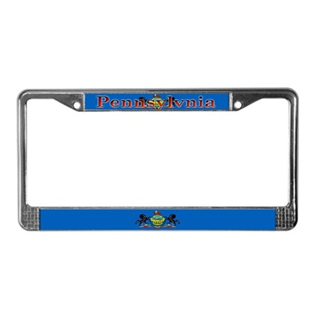 Pennsylvania State Flag License Plate Frame