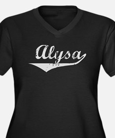 Alysa Vintage (Silver) Women's Plus Size V-Neck Da