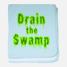 Drain The Swamp baby blanket