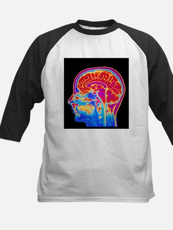 MRI scan of normal brain Baseball Jersey