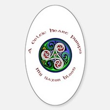 Celtic Heart - Saxon Blood Oval Decal