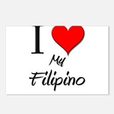 I Love My Filipino Postcards (Package of 8)