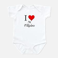 I Love My Filipino Infant Bodysuit