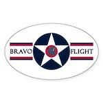81st SPS Bravo Flight Oval Sticker