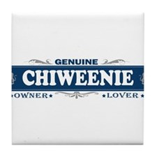 CHIWEENIE Tile Coaster