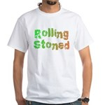Rolling Stoned White T-Shirt