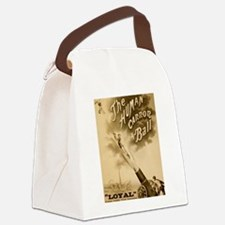 Human Cannon Ball Canvas Lunch Bag
