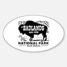 Badlands National Park Sticker (Oval)