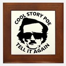 Cute Cool story bro Framed Tile