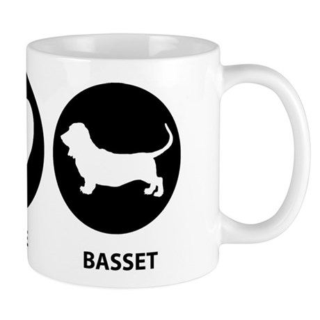 Peace Love Basset Hound Mug