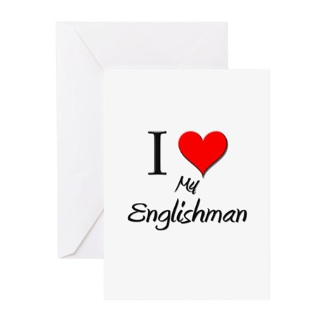 I Love My Englishman Greeting Cards (Pk of 10)