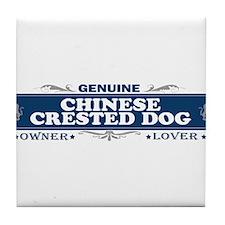 CHINESE CRESTED DOG Tile Coaster