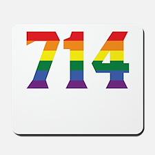 Gay Pride 714 Anaheim Area Code Mousepad