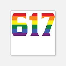 Gay Pride 617 Boston Area Code Sticker