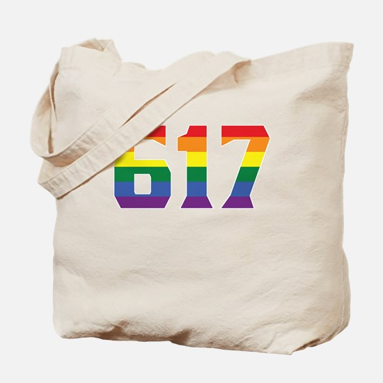 Gay Pride 617 Boston Area Code Tote Bag