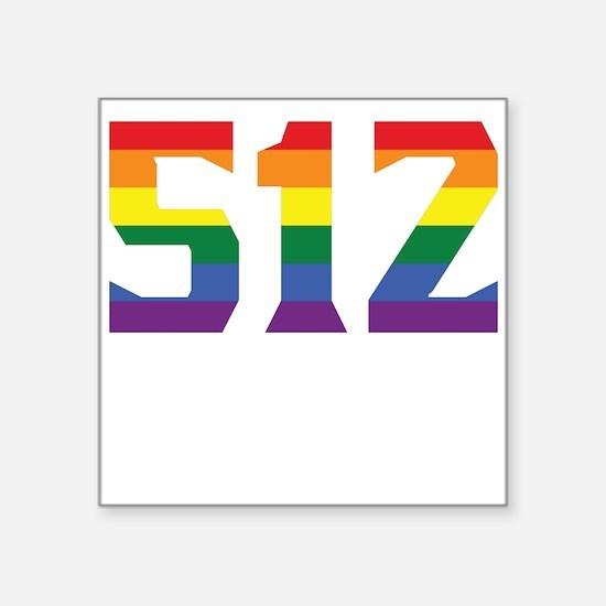 Gay Pride 512 Austin Area Code Sticker